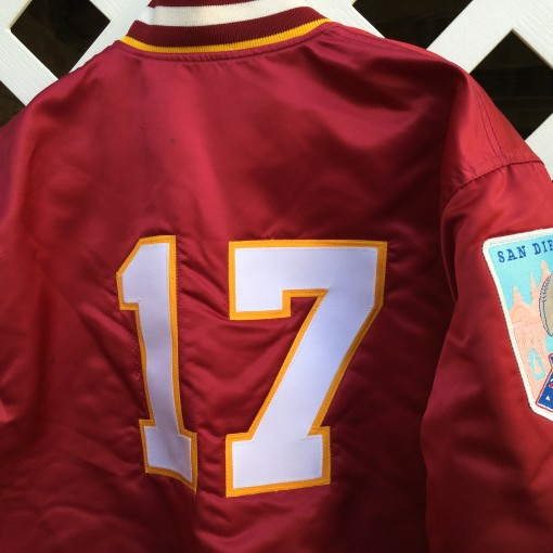 Doug Williams Washington Redskins custom super bowl jacket size large