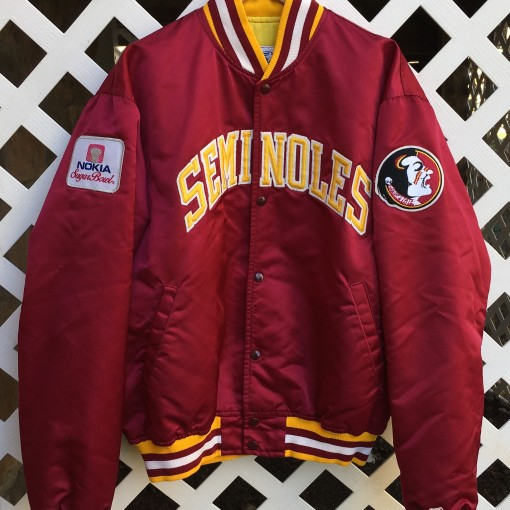 florida state seminoles deion sanders custom starter satin jacket