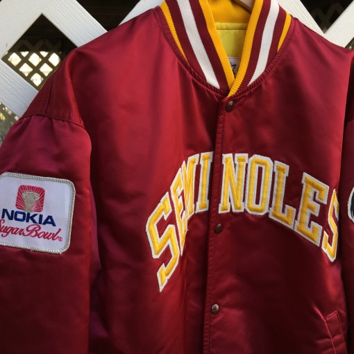 florida state seminoles custom starter satin jacket