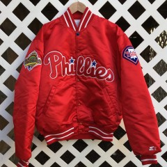 1993 Philadelphia Phillies World Series Starter Satin Jacket