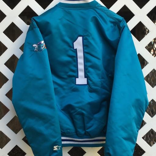 custom muggsy bouges starter charlotte hornets jacket