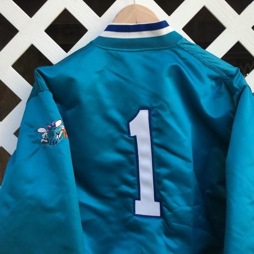 vintage charlotte hornets Muggsy bouges custom starter jacket