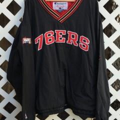 Vintage Philadelphia Sixers Champion Pullover Jacket
