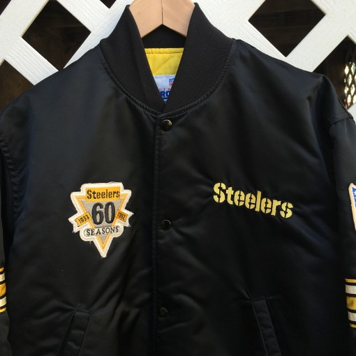 Steelers 60th Anniversary Starter Satin Jacket