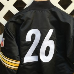 vintage pittsburgh Steelers rod woodson custom starter jacket