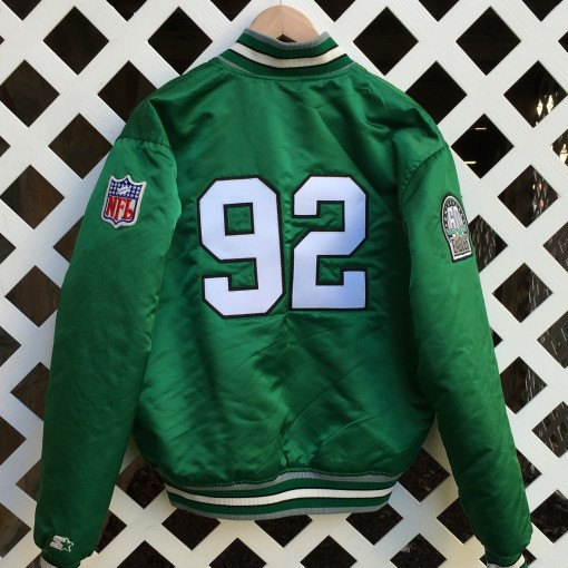 Reggie white philly eagles starter satin jacket