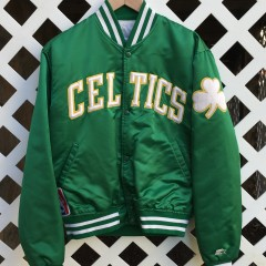 Boston Celtics custom larry bird starter satin jacket