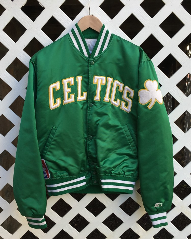 "1986 Boston Celtics ""Larry Legend"" Custom Starter Satin ..."