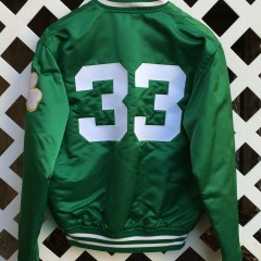 boston celtics larry bird custom starter satin jacket