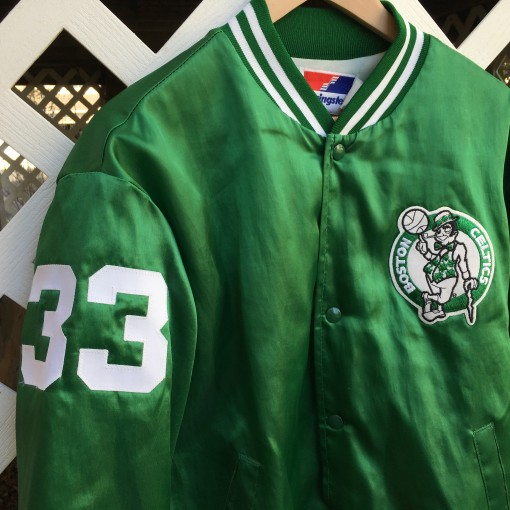vintage Larry Bird Custom Satin jacket size large