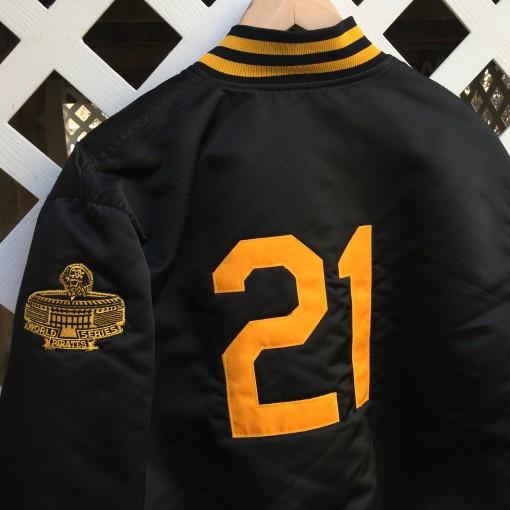 roberto clemente custom pittsburgh pirates satin jacket