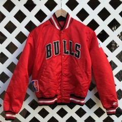 1991 nba finals chicago bulls satin starter jacket