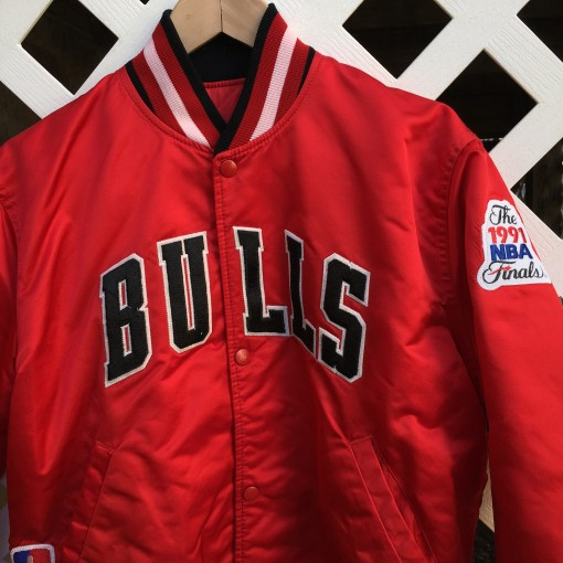1991 nba finals chicago bulls satin jacket