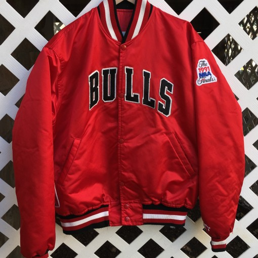 vintage 1991 nba finals starter chicago bulls satin jacket