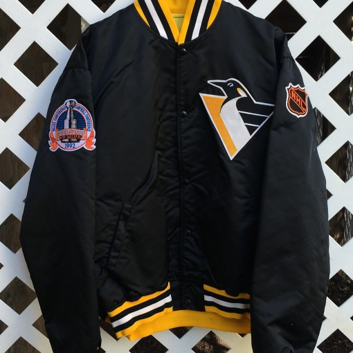1992 Pittsburgh Penguins Custom Starter Satin jacket