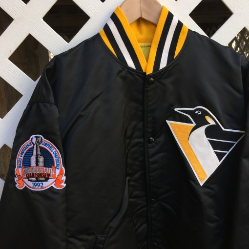 1992 Stanley Cup Finals Pittsburgh Penguins Starter jacket