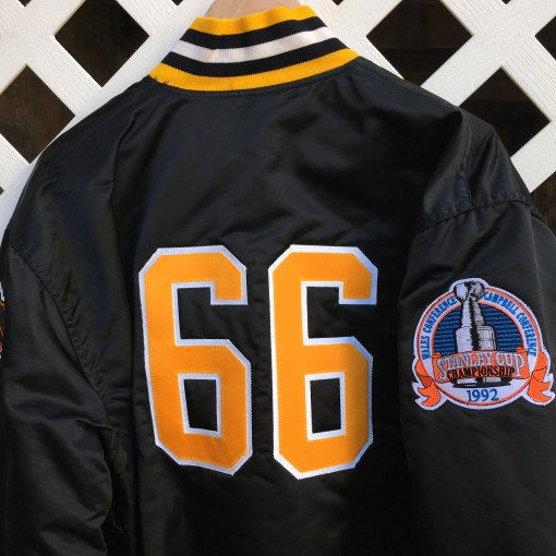 Pittsburgh Penguins 1992 Stanley Cup Finals Custom Starter satin jacket