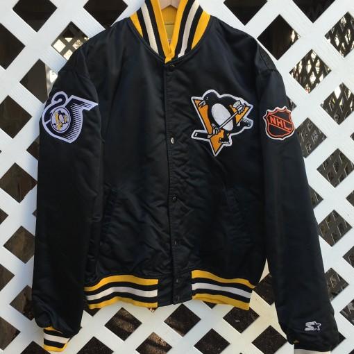 Custom Pittsburgh Penguins Starter Satin jacket