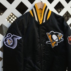 Custom Pittsburgh Penguins Starter satin jacket by Rare Vntg