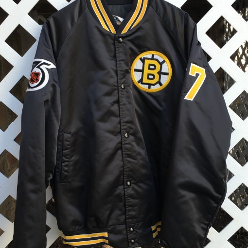 Ray Bourque Boston Bruins Custom Chalkline satin jacket