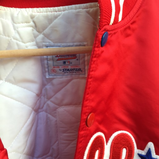 Size XL Phillies satin jacket