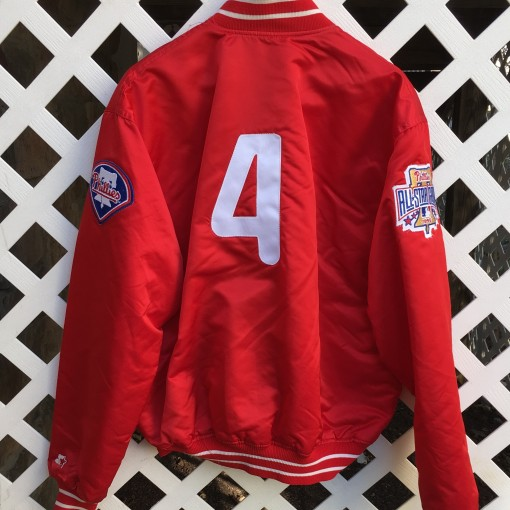 Lenny Dykstra custom Philadelphia Phillies Starter Satin jacket