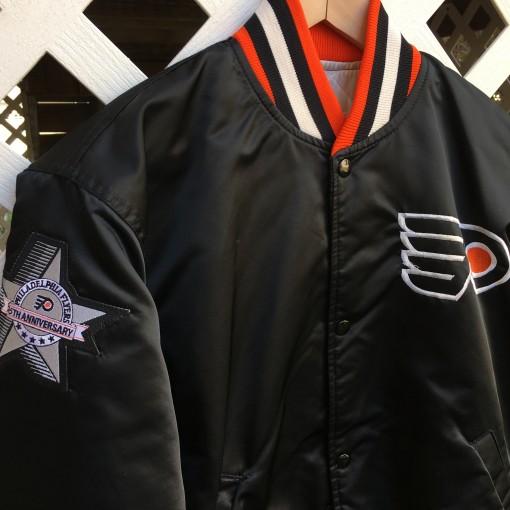 Flyers custom 25th Anniversary satin jacket