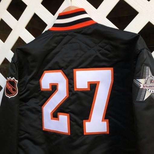 Ron Hextall Philadelphia Flyers custom starter satin jacket