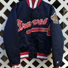Atlanta Braves Custom Starter Satin jacket