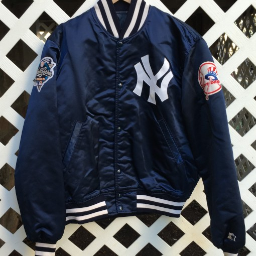 New York Yankees Vintage Starter Satin Jacket Rare Vntg Custom