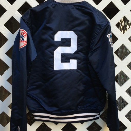 Custom #2 Derek Jeter New York Yankees Starter Satin Jacket World Series