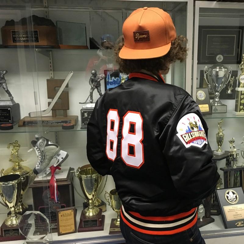 Rare Vntg Custom Eric Lindros Starter Satin Jacket