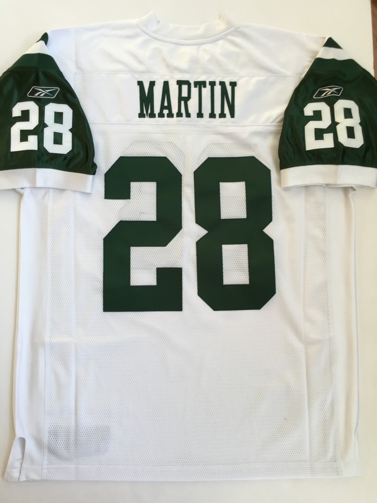 free shipping faba6 3c1a9 2005 Curtis Martin New York Jets White Authentic Reebok NFL Jersey