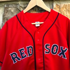 vintage Boston Red Sox Red ALternate Russell MLB jersey