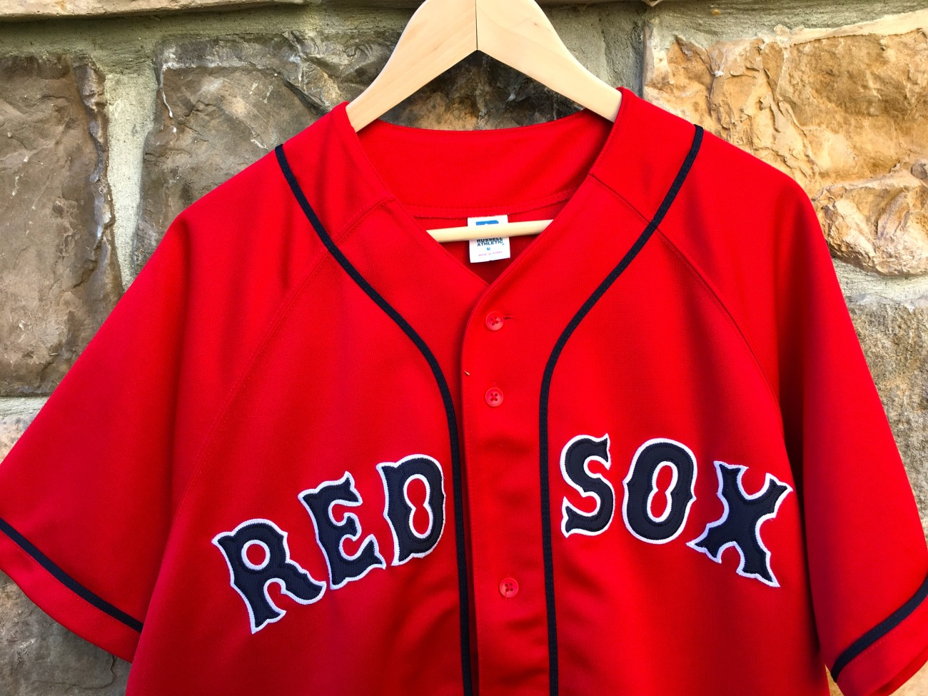 online retailer 5af7c f51e0 2003 Boston Red Sox Red Alternate Russell MLB Jersey Size Medium
