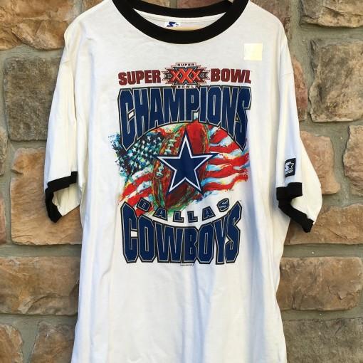 Vintage Super Bowl XXX Dallas Cowboys Starter Super Bowl Champions Shirt