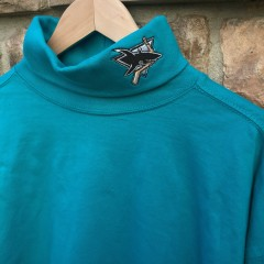 Vintage San Jose Sharks NHL Turtleneck size XL