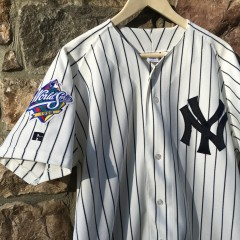 Derek Jeter Yankees 98 World Series jersey size 44 large
