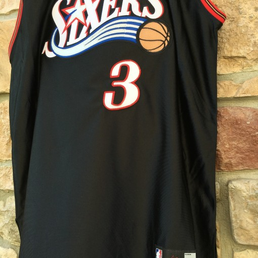 Authentic Iverson Black Adidas Jersey