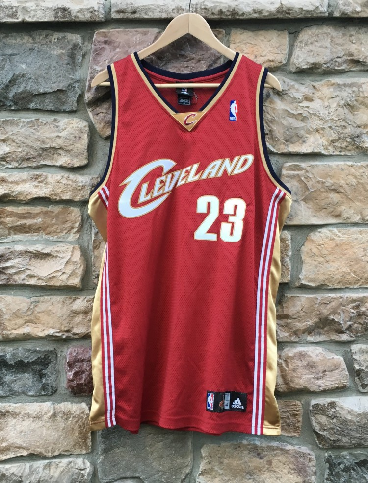 size 40 13a05 c1a3f 2007 Lebron James Cleveland Cavaliers Authentic Adidas NBA Jersey Size 44