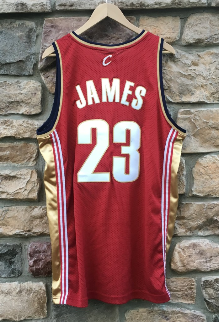 74648d7c6 2007 Lebron James Cleveland Cavaliers Authentic Adidas NBA Jersey ...