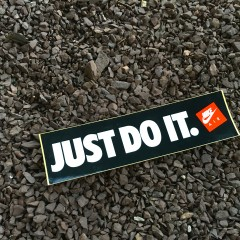 Vintage 80's nike just do it sticker