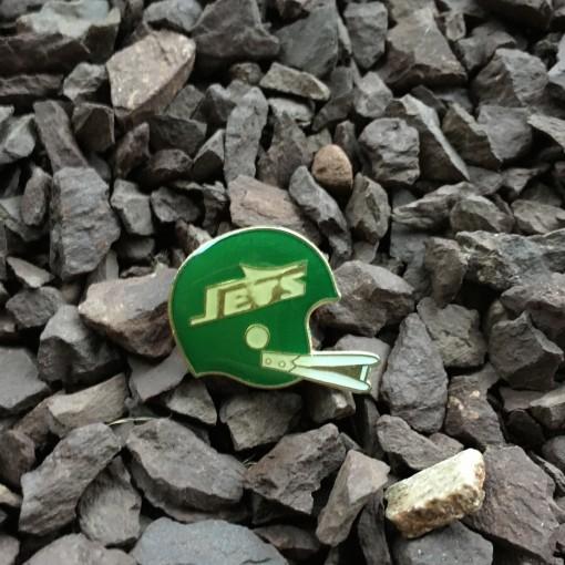 Vintage 80's New York Jets Lapel Football Helmet Pin