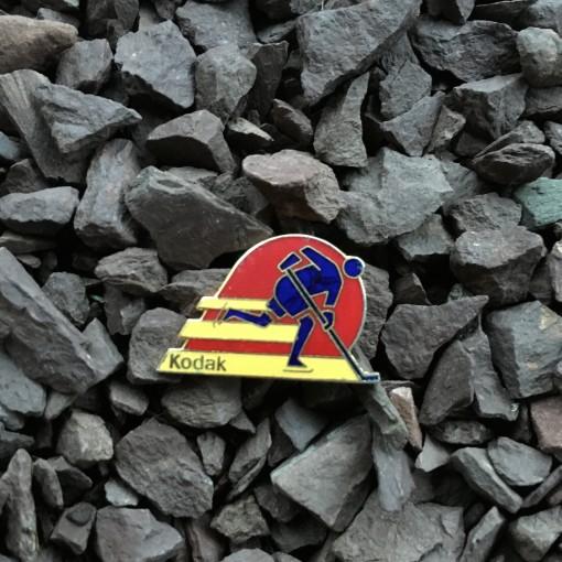 kodak ice hockey winter olympics pin