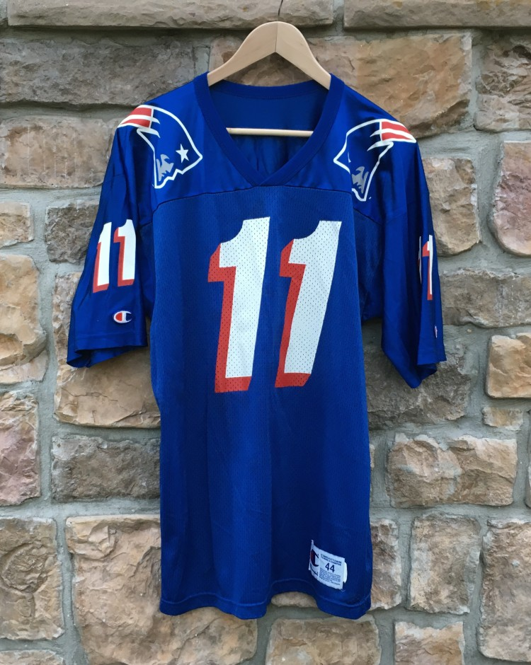 1996 Drew Bledsoe New England Patriots Champion NFL Jersey Size 44