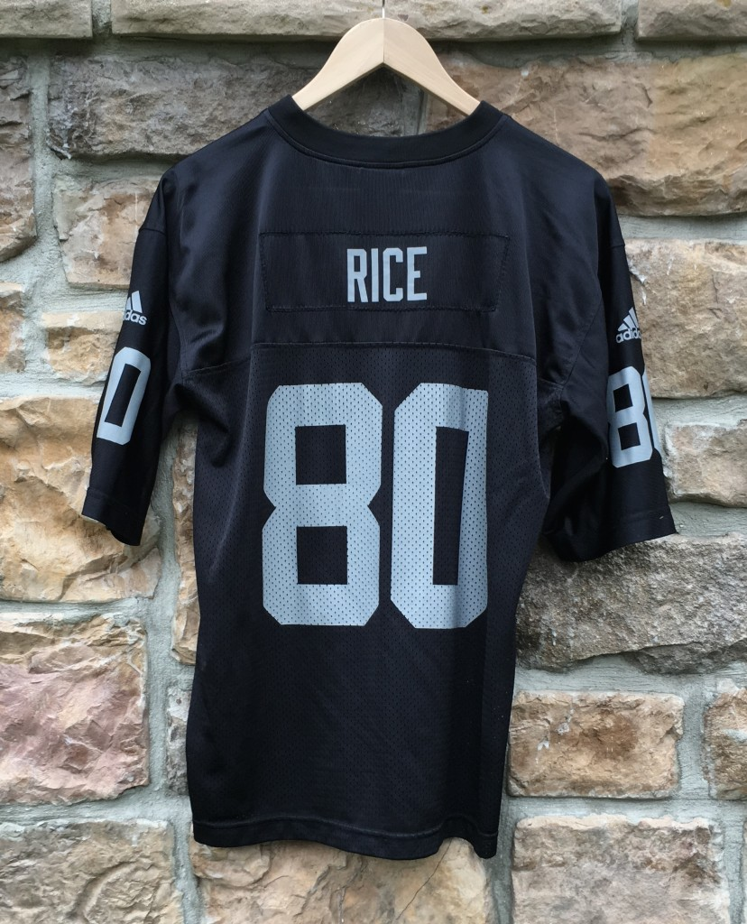 buy online e4d03 37130 2001 Jerry Rice Oakland Raiders Adidas NFL Jersey Youth XL