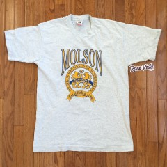 vintage molson canadian beer shirt 80's