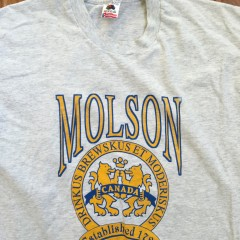 Molson Canadian Beer shirt vintage 80's Large