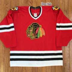 vintage 90's Chicago Blackhawks CCM Nhl hockey jersey size large