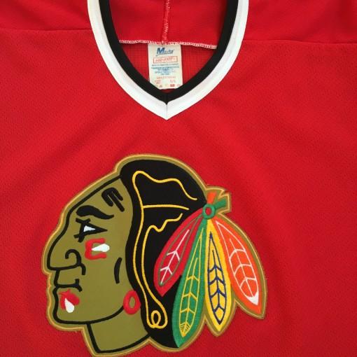Vintage Red blackhawks jersey
